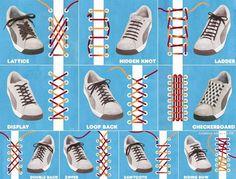 Завязать длинные шнурки туфли