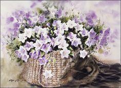 Watercolor Landscape, Watercolor Flowers, Watercolor Paintings, Watercolor Techniques, Paint Colors, Floral Wreath, Illustrations, Drawing, Plants