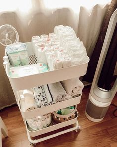 baby girl nursery room ideas 348747564897481211 - repping for a little one? Organize your nursery items by category to reduce stress and increase efficiency. Thanks for the diaper station Source by aasobrab Baby Room Themes, Baby Room Diy, Baby Bedroom, Nursery Room, Ikea Baby Nursery, Girl Nursery, Diaper Storage, Baby Storage, Pacifier Storage