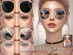 Glasses 201904 by S-Club from TSR for The Sims can find The sims and more on our website.Glasses 201904 by S-Club from TSR for The Sims 4 The Sims 4 Pc, Sims Four, Sims Cc, The Sims 4 Skin, Sims 4 Mods Clothes, Sims 4 Clothing, Sims 4 Pets, Sims 4 Piercings, Sims 4 Anime
