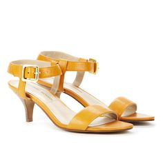 Mustard yellow Open toe sandals - Lindell