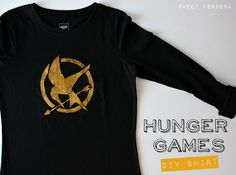 Love the hunger games! Now I can have an easy shirt to make for the premiere, oh too excited!!!!