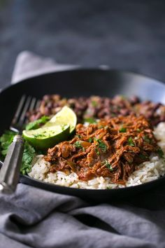Cuban Shredded Beef (Slow Cooker) - The easiest recipe for ropa vieja! Made in the slow cooker. Just add everything in and out comes the most tender, shredded beef EVER! #cubanshreddedbeef #shreddedbeeftacos #ropavieja #slowcooker   Littlespicejar.com