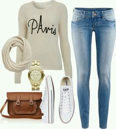 Outfit casual converse blanco