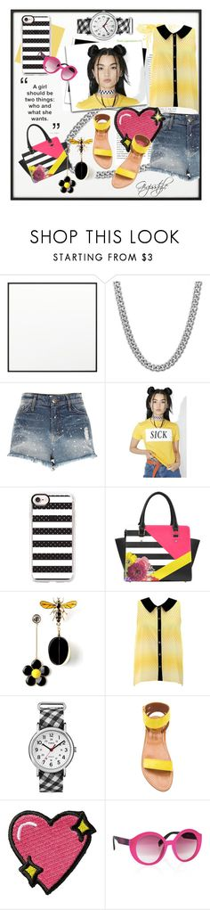 """""""Be Yourself"""" by gigisstyle ❤ liked on Polyvore featuring By Lassen, Sterling Essentials, River Island, The Ragged Priest, Casetify, Timex, K. Jacques, Stoney Clover Lane and Italia Independent"""