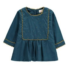 Zina Embroidered Plastron Dress-product
