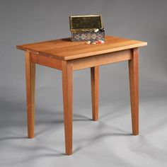shaker end table in natural cherry