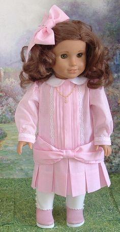 Pink Batiste Dress for Rebecca Samantha by MyGirlClothingCoHeir, $75.00