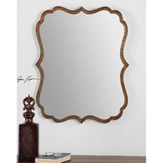 Photo Image Spadola Oxidized Copper Inch Bathroom Mirror Uttermost Rectangle Mirrors Home Decor