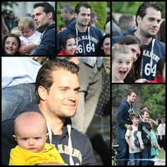 Henry Cavill poses with children at yesterday's #groovefestival in Bray, Ireland. #cutenessoverload #henrycavill #Superman #babieslovehim #mancrushmonday #henrycavillorg
