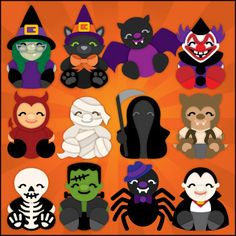 Halloween Cuddly Friends SVG Collection-SVG Files for Sure Cuts A Lot , eCAL
