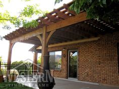 attached pergola gallery attached timber pergola images western timber frame hiller2_12x32