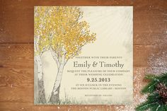 Fall Tranquility Wedding Invitations by Jenifer Martino at minted.com