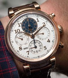 IWC Da Vinci Perpetual Calendar Chronograph Watch  mens wear // mens accessories // casual men // mens style // urban living // gift ideas for him // gift ideas for men // quotes // for him // Father's Day