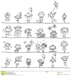 nios felices de la historieta del dibujo de drawing cartoonskid - Cartoon Drawings Of Kids