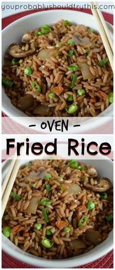 Oven Fried Rice – you probably should try this