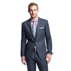 Pre-order Ludlow suit jacket with double vent in Italian linen