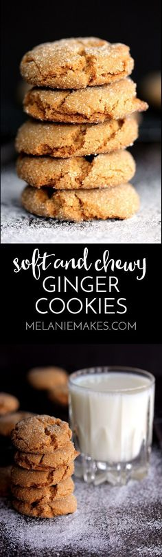 Forget cookies that snap! These Soft and Chewy Ginger Cookies are the cookies that dreams are made of. The melt in your mouth texture is absolute perfection, while rolling them in sugar prior to baking gives them their specialty sparkle.