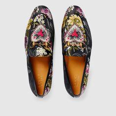 Gucci Men - Gucci Jordaan floral jacquard loafer - 431486K16501864