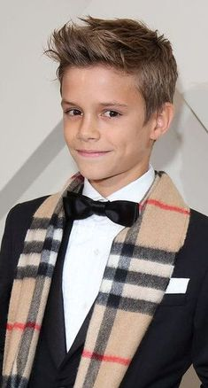 Well-dressed young model Romeo Beckham