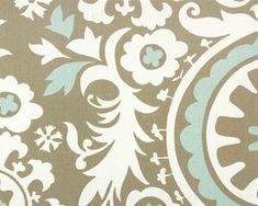 Premier Prints Suzani Powder Blue Home Decor fabric by the yard $10.00