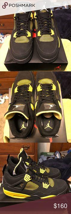 375b6df2143f Nike air Jordan retro 4 Retro 4 used worn once ! Great shoe Jordan Shoes  Sneakers