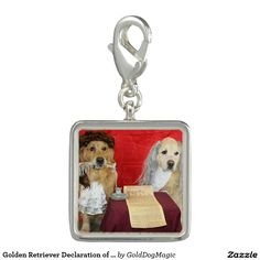 Golden Retriever Declaration of Independence Charms