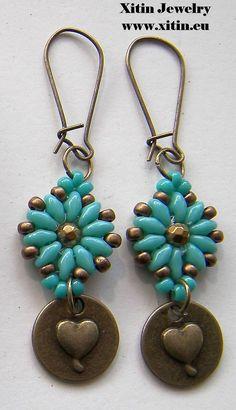 Duo bead earrings