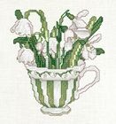 January Teacup Posy - Snowdrops