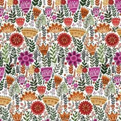 Mini Firn Floral in Multi by Bobbie Lou's Fabric Factory