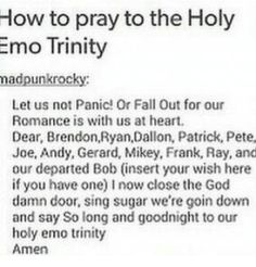 Emo Band Memes, Mcr Memes, Music Memes, Emo Bands, Music Bands, Rock Bands, Hes Mine, Killjoys, This Is A Book