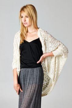 Crochet Shawl Milla Cardigan | Awesome Selection of Chic Fashion Jewelry | Emma Stine Limited