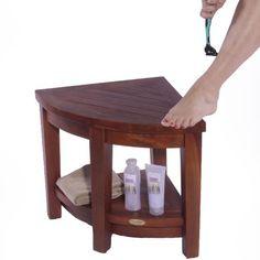 Oasis FULLY ASSEMBLED Teak Corner Shower Bench With Shelf- Shower Sitting, Storage, Saving Foot Rest Decoteak,http://www.amazon.com/dp/B009I8IFOI/ref=cm_sw_r_pi_dp_.f0Rsb1Z9H0MZS8E