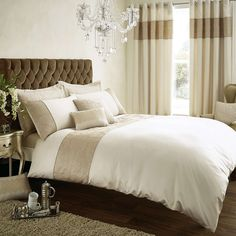 Venetia Natural Bed Linen Collection | Dunelm