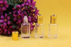 Pack Of 12ml Glass Roll On Bottles, Clear Glass With Golden Cap, Roll On Bottle,Perfume Bottle Purple Perfume Bottles Refillable Empty Glass Perfume Bottle From Lily_electronics, $46.99| Dhgate.Com