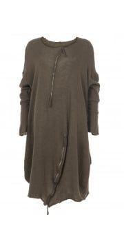 Linoil Cashmere Mix Tunic Dress