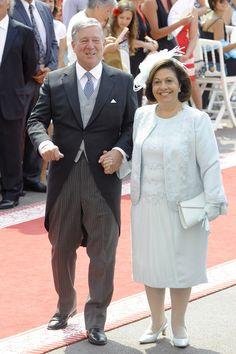Los Príncipes de Yugoslavia en la boda de Alberto y Charlene