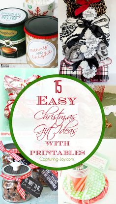 15 Easy Christmas Gift Ideas with Printables