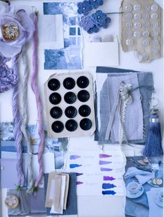 mood board by Holly Becker Love Blue, Blue And White, Mood Board Interior, Textiles, Book Projects, Color Stories, Colour Schemes, Colour Board, My Favorite Color