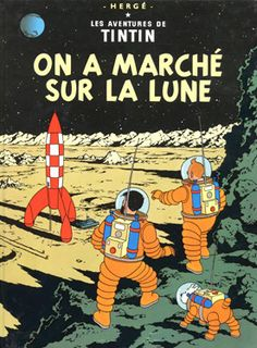 Tintin: Explorers on the Moon Art Print by Herge