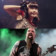 Q:They're all legends! Did any of those bands give you heavy-metal advice? YUIMETAL: We didn't get advice per se, but we had a chance to watch their shows and learn from them. Generally, it was the way they would rile up the audience and build up energy. But when we saw Slayer sticking out their tongues while playing, we thought that looked cool. We might try to incorporate that into our show! (sticks tongue out)…