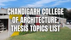 Chandigarh College of Architecture #CCAChandigarh #Architecture #Thesis-Topics #Architectural #Thesis #topics #ArchitecturalThesis #thesisarchitecture #thesistopics #topicsforarchitecture #ideas