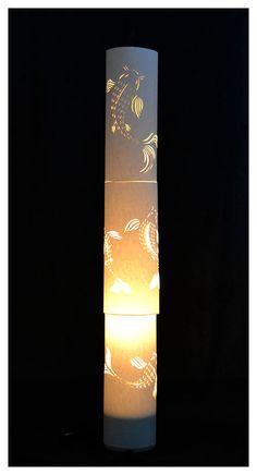 Paper Koi Lamp by Nedo Delport. Koi, Lava Lamp, Table Lamp, Lighting, Paper, Home Decor, Ideas, Table Lamps, Decoration Home