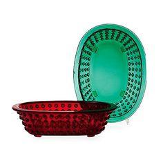 """Two Josef Frank glass bowls """"Hortus"""", by Gullaskruf or Reijmyre for Svenskt Tenn. Length 27 cm, height 7 cm.. - Modern Autumn Sale, Stockhol..."""