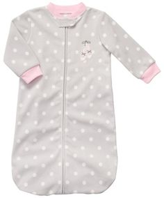 Carter S Sleeping Bag Grey Dot Print Ballet One Size Brand New With