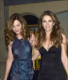 Celebrities at Claridge's hotel in Mayfair Featuring: Elizabeth Hurley, Trinny Woodall Where: London, United Kingdom When: 13 May 2015 Credit: WENN.com