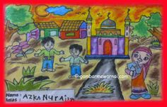 Mewarnai Gambar Rajin Ke Masjid Azka Paud Bougenville Situbondo