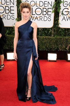 Amber Heard at the Golden Globes.