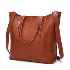 e1a966dac71d0 Shoulder Bags for women 2018 Solid Leather Bag women sac Luxury Handbags  Women Bags Designer Large