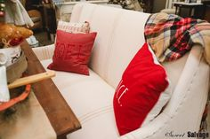 Comfort and Joy Sweet Salvage Comfort And Joy, Retail Therapy, Throw Pillows, Sweet, Candy, Toss Pillows, Cushions, Decorative Pillows, Decor Pillows